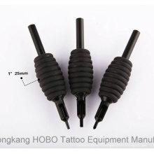 Tubes de fournitures de tatouage jetables en gros 25mm avec des pointes noires