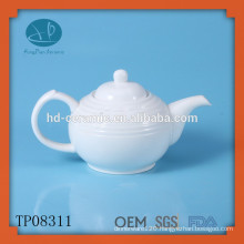 White porcelain teapot 680ml,ceramic tea pot