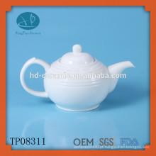 Tetera de porcelana branca 680ml, pote de chá de cerâmica