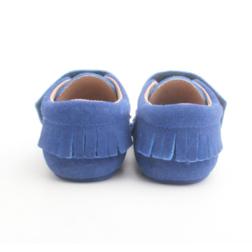 Blue Baby Kids Moccasin Kulit Pepejal