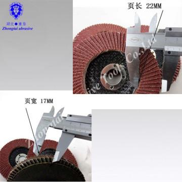 Disque à lamelles abrasif pour inox 22 mm x 115 mm