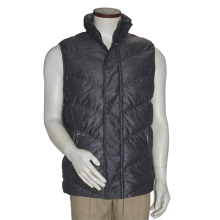 Latest Design High Quality Woolen Fabric Dark Grey Men′s Waistcoat Winter Sweater Vest