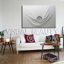 Decorative Abstract Clock Canvas Wall Art