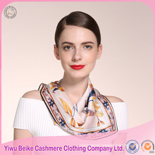 Hot Sale Women's Top Grade print Silk Scarf with good prices