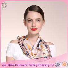 Топ горячая Распродажа Женская Марка печать Шелковый шарф с хорошие цены