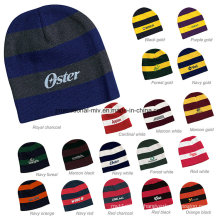Striped 100% Acrylic Knit Beanie