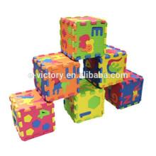 Синий цвет Baby дети Ева пластиковые блокировка обхода пены лоскутных ковер Splice играть этаж Puzzle Матем