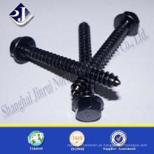 Parafuso de madeira de zinco preto gr8.8
