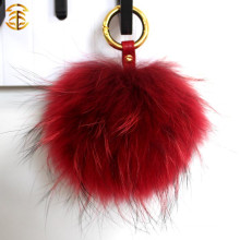 Raccoon Fur Ball Keychain Fur Pom Poms Raccoon Rur Pompom For Hat