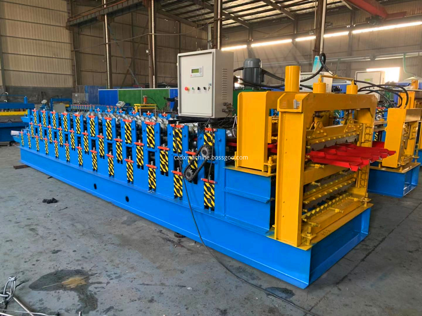 three roof cold roll forming machine