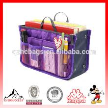 Organizador del bolso del organizador del bolso del organizador del bolso del organizador del bolso del parte movible del viaje de las mujeres púrpura