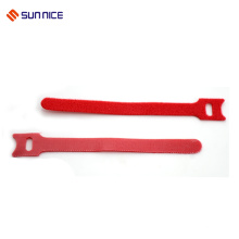 Environmental hook and loop cable tie wire fasteners tie