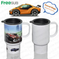 FreeSub Sublimation Plastic Travel Mug with Photo Printing