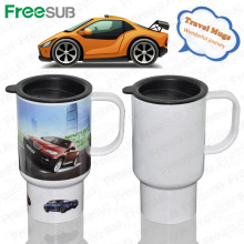 FreeSub Sublimation Plastic Travel Mug avec impression photo