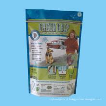 Saco plástico do empacotamento de alimentos para animais de estimação com zíper
