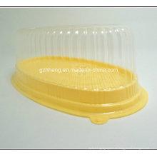 Caja de embalaje plástica de encargo del diseño para la torta / el pan (empaquetado claro de la torta)