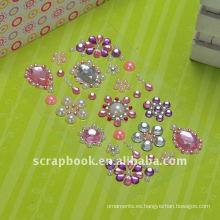 etiqueta engomada de cristal rhinestone de acrílico para la decoración de teléfono