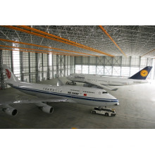 Armação de aço do arco de armação de telhados Hangar galpão de aeronaves
