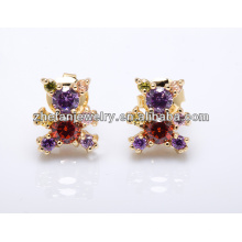 2018 оптовая золота плакировкой мода ювелирных изделий кубического циркония серьги