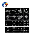 Tattoo Stencils for Body Painting Glitter Temporary Henna Stencils Kit