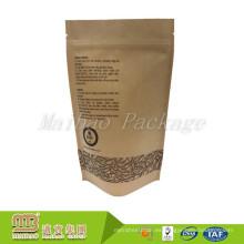 El paquete al por menor de la cremallera impresa aduana del precio al por mayor barato se levanta el papel de Kraft de la bolsa de café laminada del papel de aluminio laminado