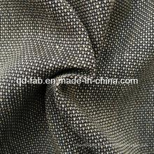 Lino / Hilado de algodón / Rayón teñido de tela de tela (QF13-0768)