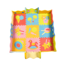 puzzle style mat print cartoon eva mat manufacturer  play mat
