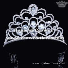Rhinestone Pageant Crowns With Zircon Diamonds