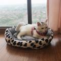 Ovales Grübchen-weiches Plüsch-Haustier-Katzen-Hundebett