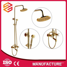 brass shower faucet set hard tube brass bath slide shower bar set