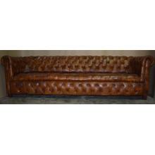 Sofá de cuero genuino estilo europeo