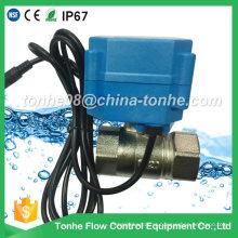 Dn20 2 vias Cr202 220V niquelado latão elétrico motorizado válvula de esfera para o vapor
