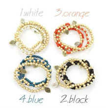 New Bohemian Style Handmade Multilayers Rice Bead Bracelets Wholesale FB46