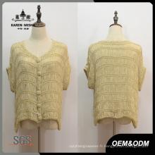 Cardigan en tricot à manches courtes pour femmes