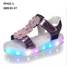 Children Fashion Summer Bright Sandals Flashing Light LED Shoes (FF422-2)