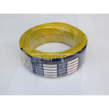 Cable de alambre eléctrico con aislamiento de PVC de un solo núcleo