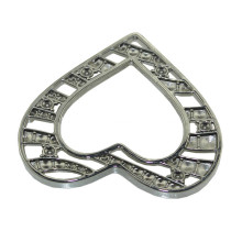 Hollow out metal heart shape belt buckle