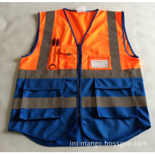 Colorful Reflective Workwear Safety Vest (MW19019)