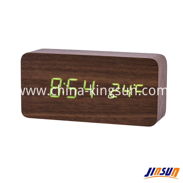 Wood Led Clock 104 17