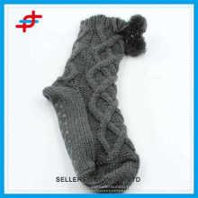 2016 высококачественные шерстяные носки для молодых девушек, противоскользящие и полосатые узоры для оптовой продажи