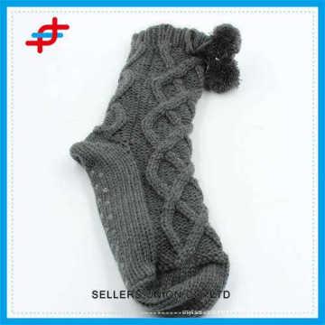 Chaussettes en laine de haute qualité 2016 pour jeunes filles, antidérapantes et rayures pour gros
