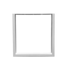 Pieds de table basse rectangulaire en métal blanc