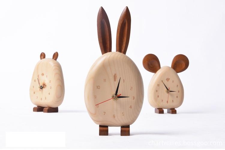 waterproof good wooden clock