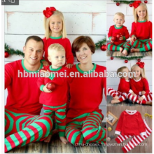 2017 0EM service knitted unisex clothing sets full printed christmas pajamas family