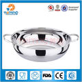26cm stainless steel cooking pot with glass lid