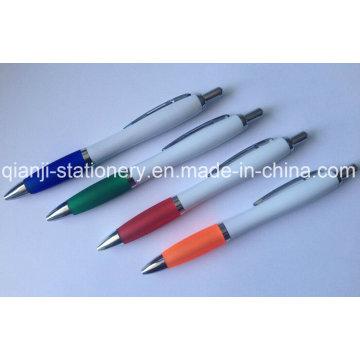 Esferográfica de plástica para promoção logotipo caneta impressão caneta (P3010C)