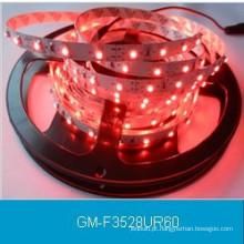 IP20 DC12V 3528 Faixa de LED de cor vermelha 60LEDs / M / LED Luz Flexível