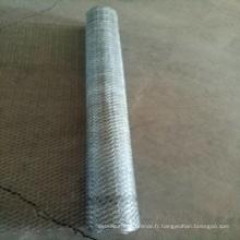 Le grillage hexagonal galvanisé enduit de PVC de 1/2 pouce / treillis métallique de poulet