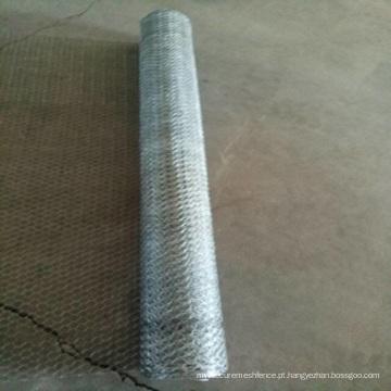Engranzamento de fio sextavado galvanizado revestido PVC de 1/2 polegadas / rede de arame da galinha