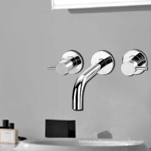 Mezclador de lavabo de latón macizo y grifos de lavabo